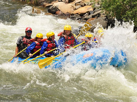 Denver summer camp rafting