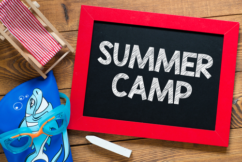 summer camp chalk board